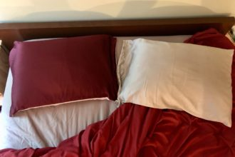MYK and Slip silk pillowcases