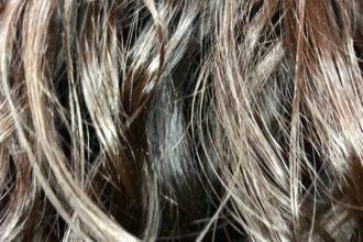 Close up of Sana's hair