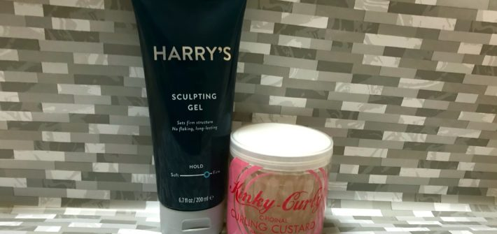 Harry's Sculpting Gel and Kinky Curly Curling Custard